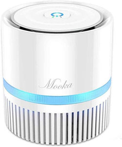 MOOKA 3-in-1 True HEPA Filter Air Cleaner for Bedroom and Office